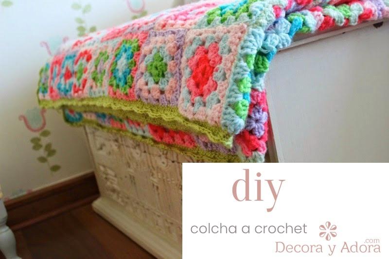 Como hacer una colcha a crochet con cuadraditos básicos