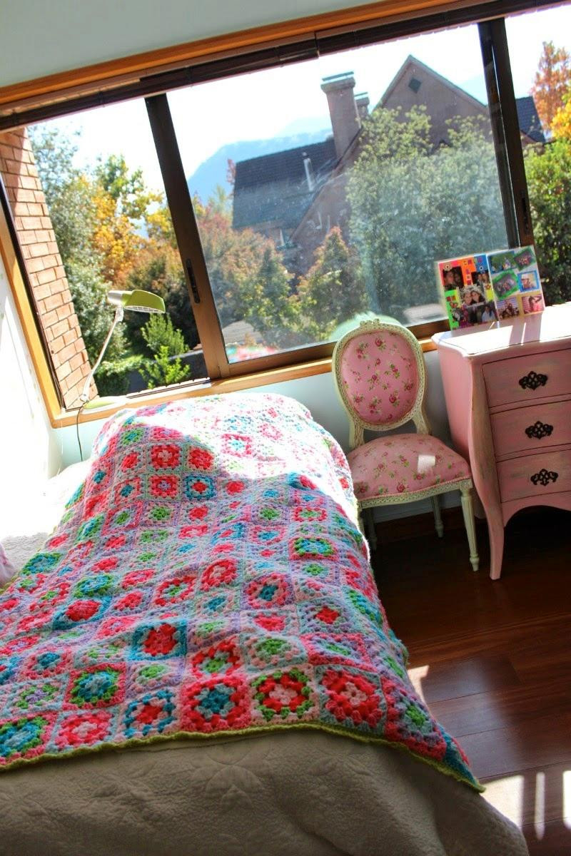 Como hacer una colcha a crochet dormitorio niña
