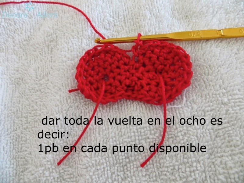 como hacer un corazón  a crochet fácil