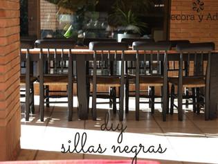 sillas negras para comedor terraza