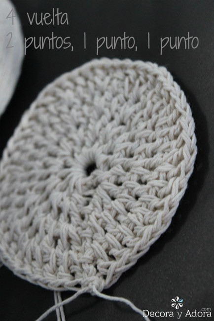 paso a paso para posavasos a crochet