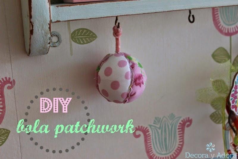 como hacer una bola patchwork