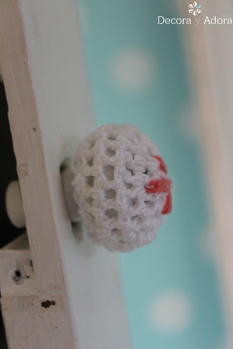 detalle de manilla a crochet