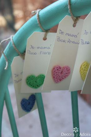 tarjetas navidad corazón fácil a crochet