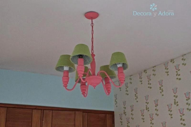 lámpara renovada dormitorio niña