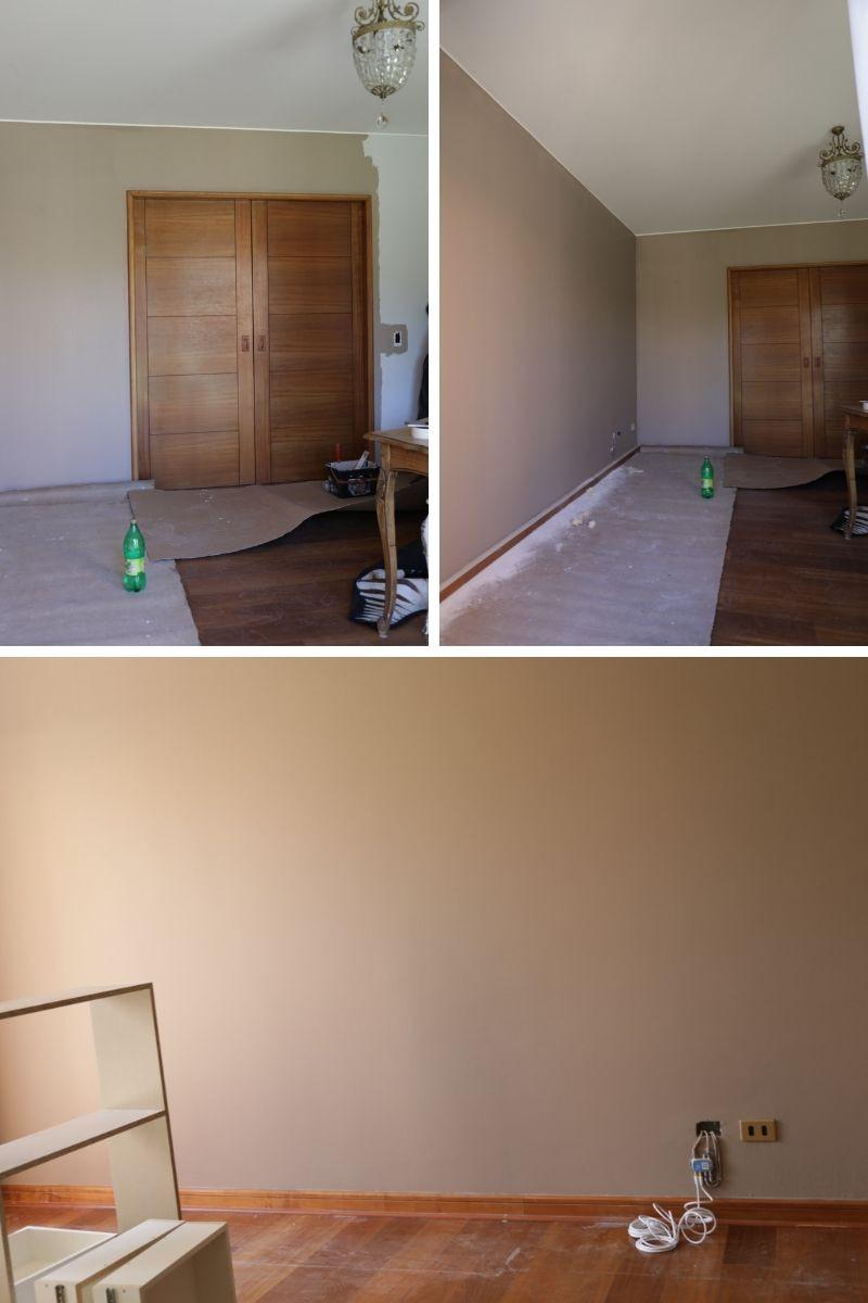 pintado muros color topo