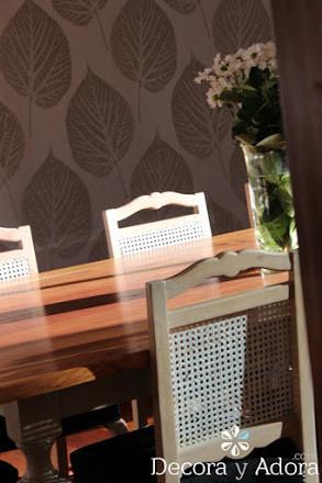 comedor tradicional cubierta  de mesa restaurada