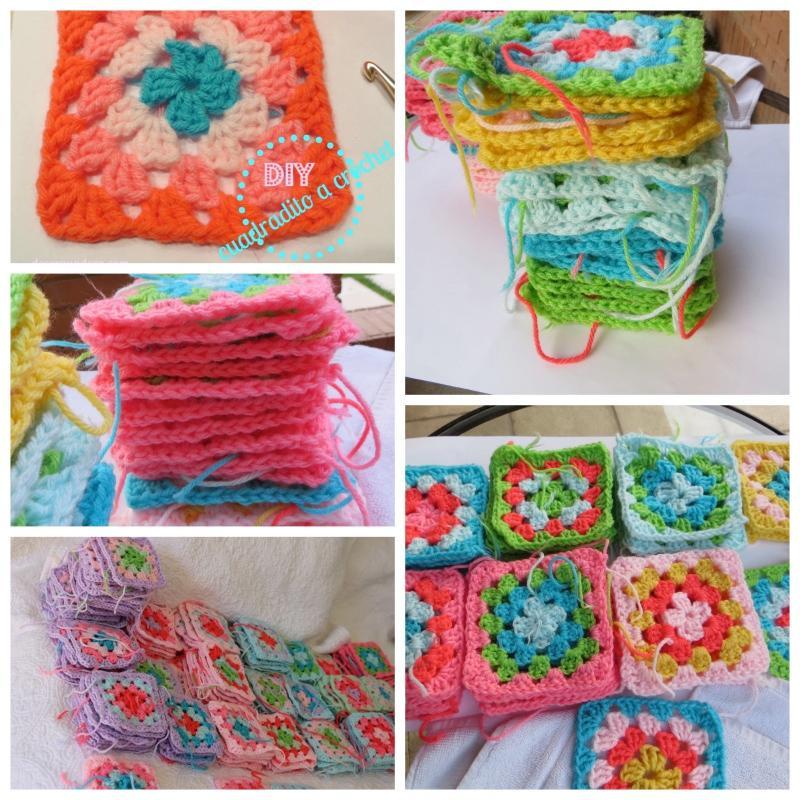 Como hacer una manta a crochet con cuadrados básicos