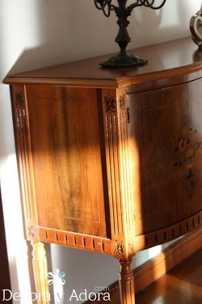 paso a paso restaurar bife antiguo resaltando marquetería desgastada