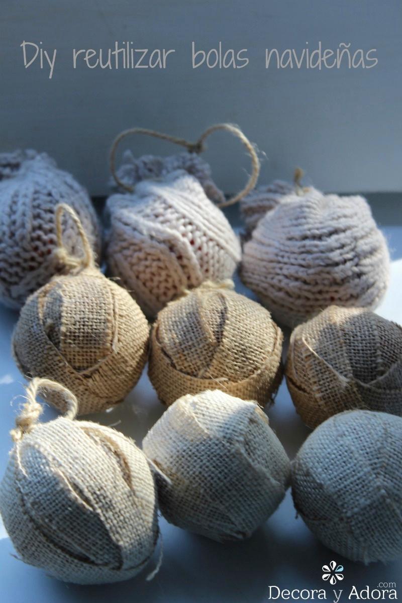 reciclar bolas de navidad