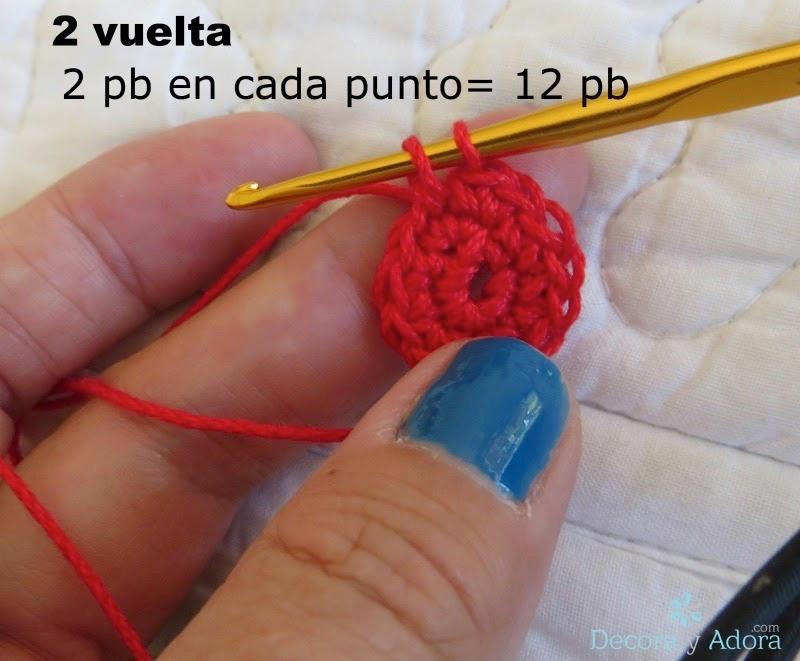 paso a paso corazón para rellenar a crochet
