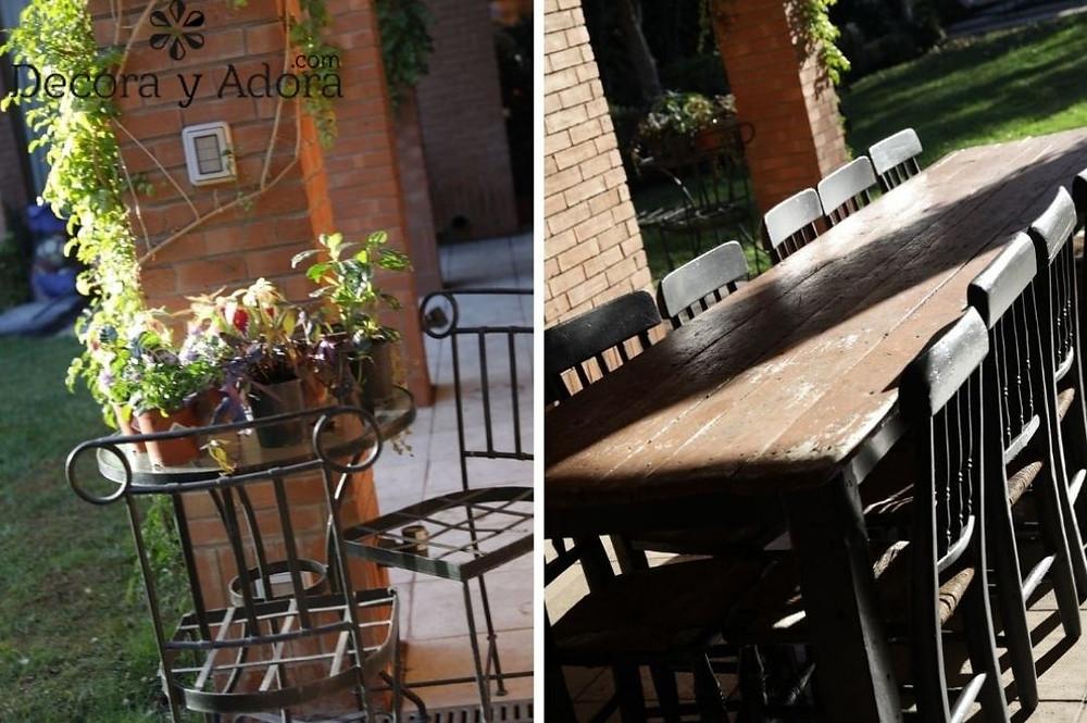comedor terraza pintado de negro