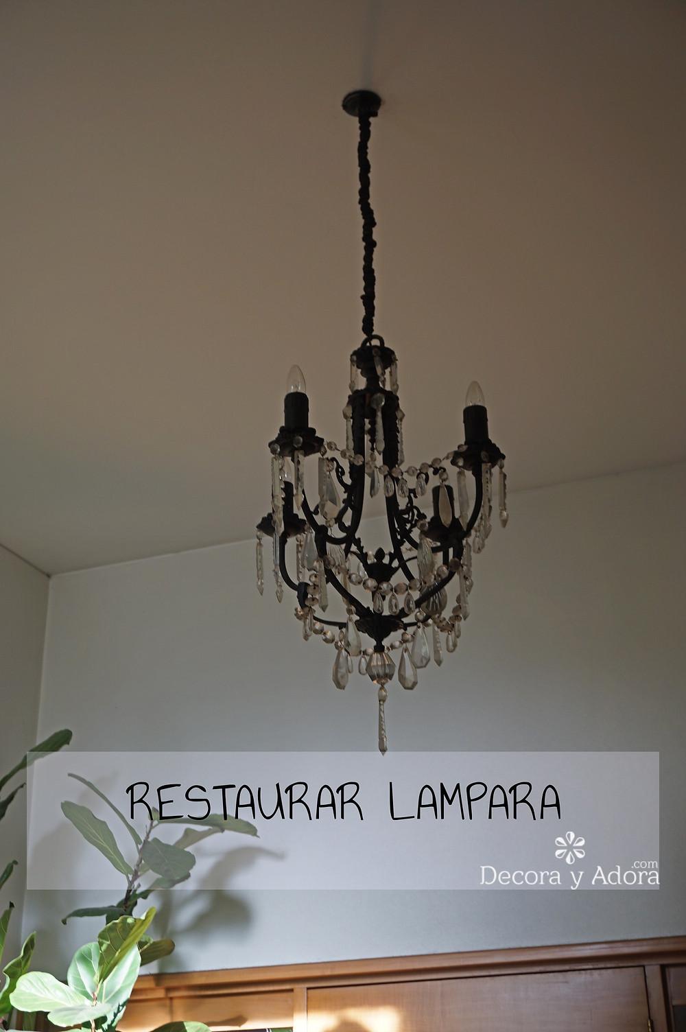 COMO RESTAURAR LAMPARA ANTIGUA