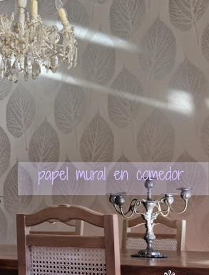 colocar papel mural en comedor