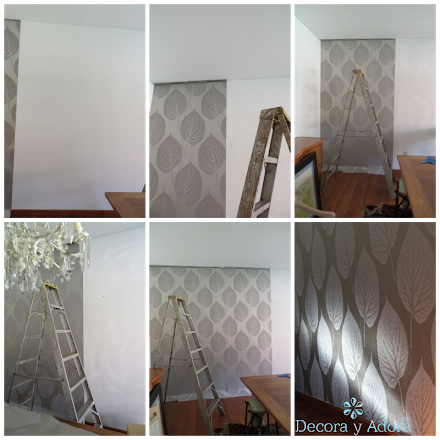 colocar papel mural harlequin ,tutorial