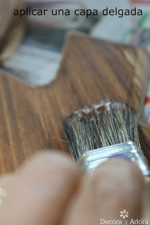 diy Adorno rústico , signo pintado con betún de judea