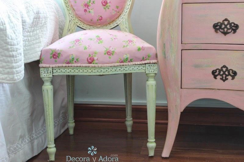 linda silla renovada niña