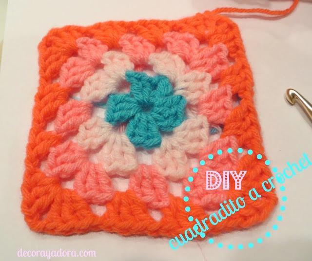 colcha a crochet con cuadraditos básicos
