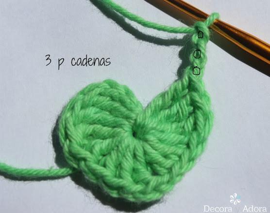 corazón fácil a crochet tejer 3cadenetas