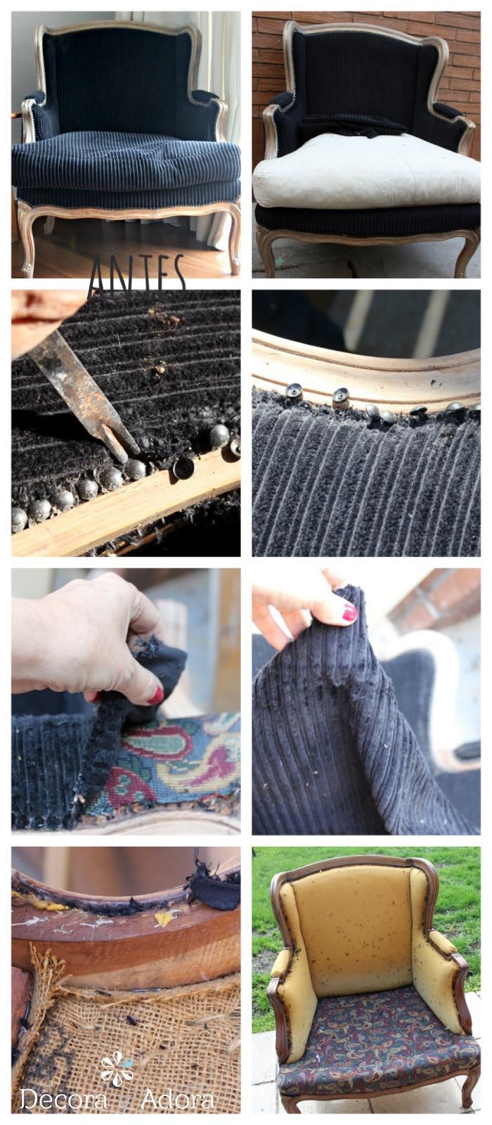 paso a paso tapizar sillon