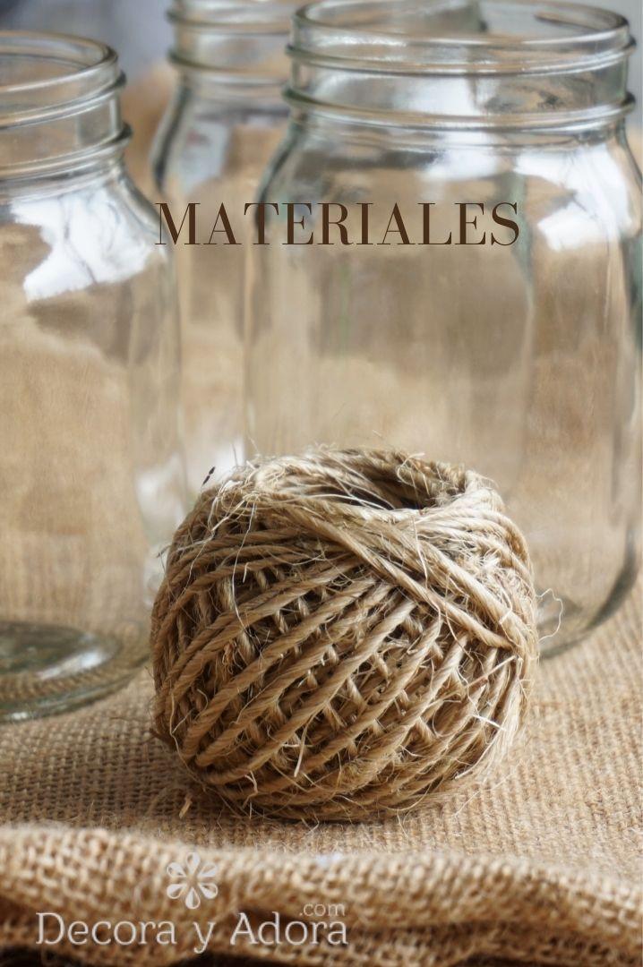 para reciclar frascos necesitamos cuerdas de sisal