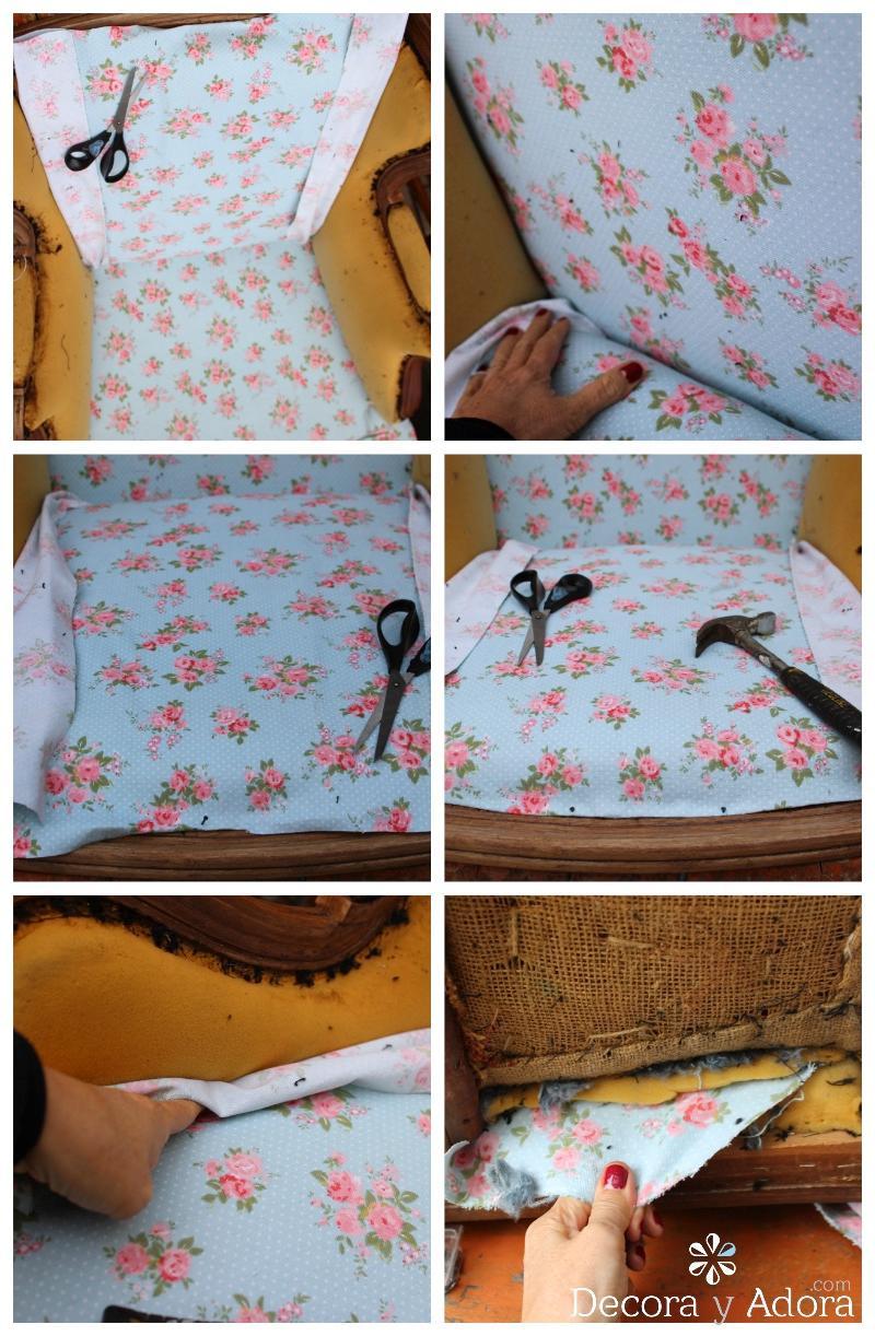 tutorial tapizar sillón fácil
