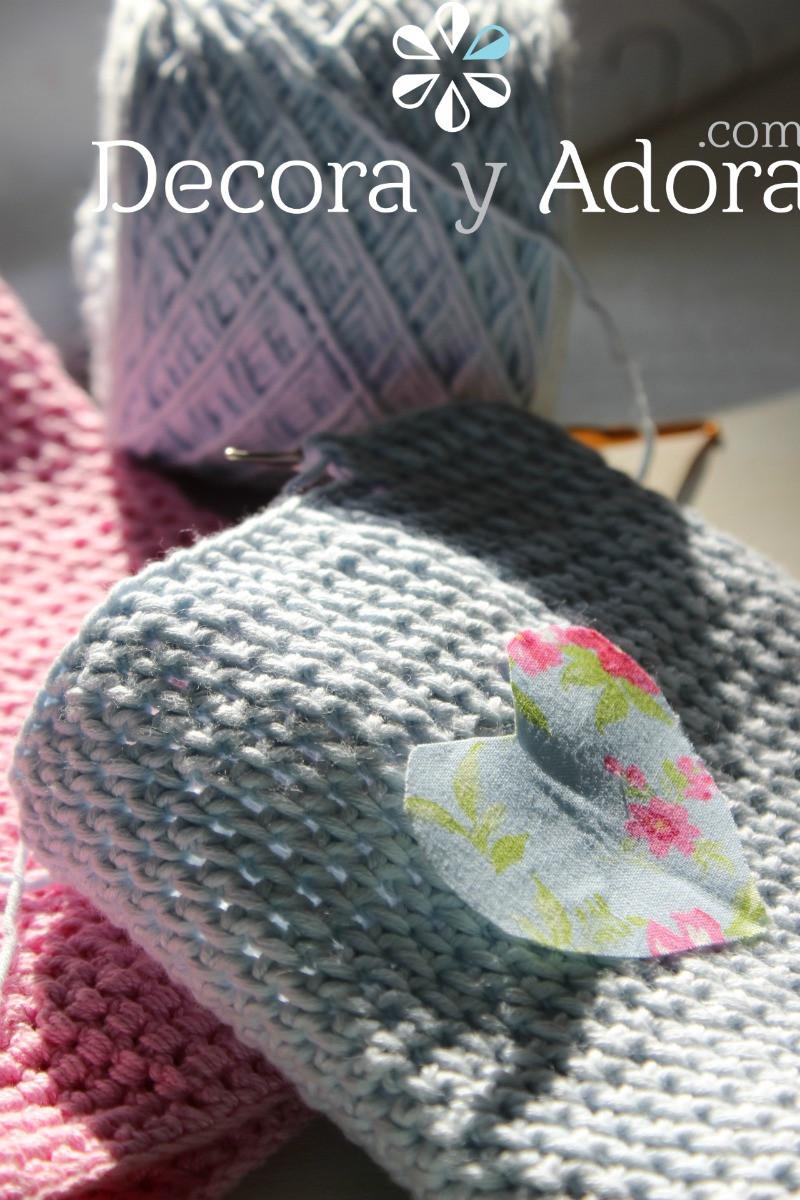 aplicación funda de termo a crochet