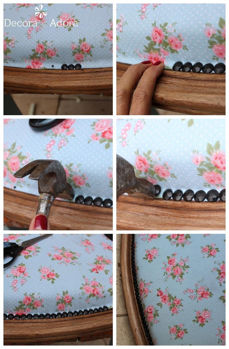 para tapizar sillón con tachuelas