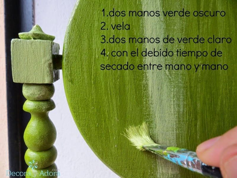 pintar espejo para que se vea envejecido / How to paint in two colors with an aged look