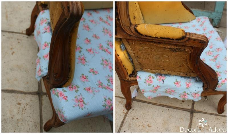 paso a paso tapizar sillón fácil