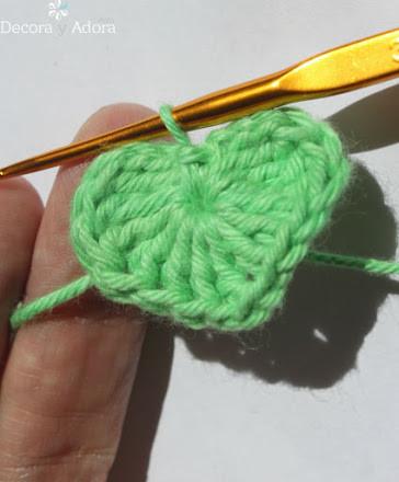 paso a paso  corazón fácil a crochet
