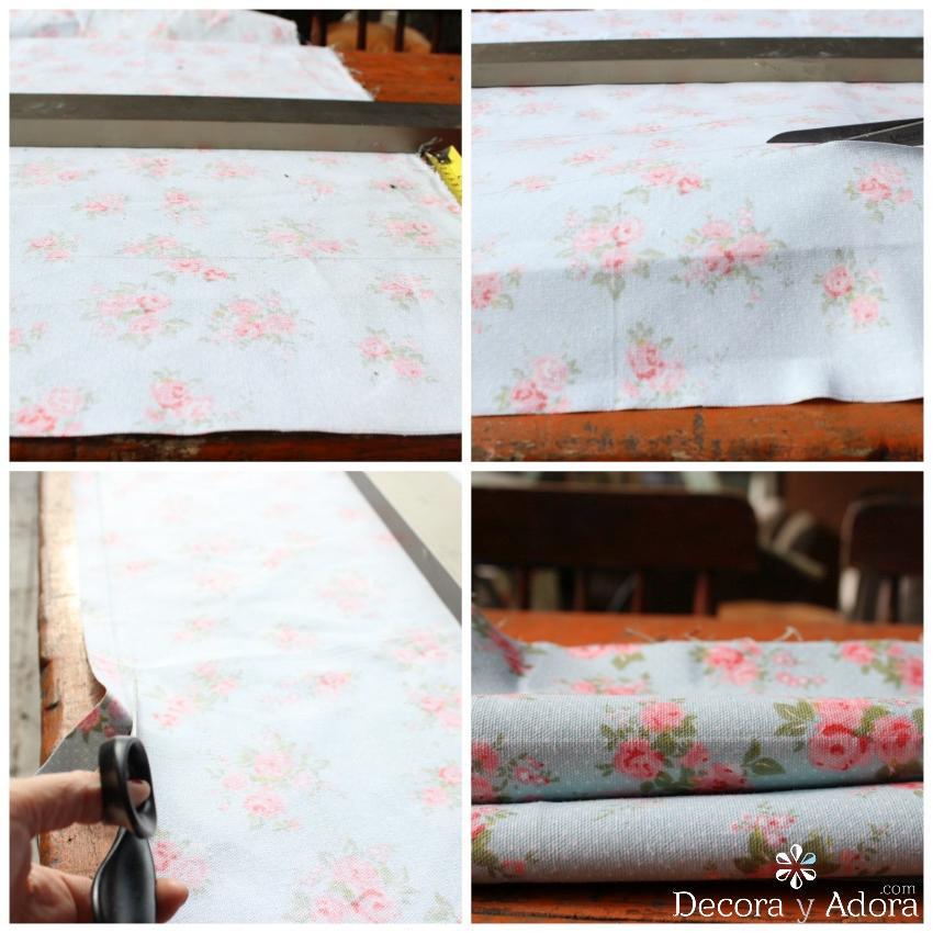 para tapizar sillón primero cortar la tela