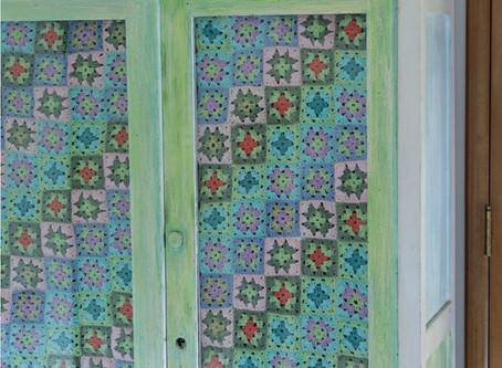 pintando mueble de dos colores