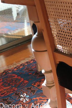 cubierta  de mesa comedor restaurada y patas de albayalde