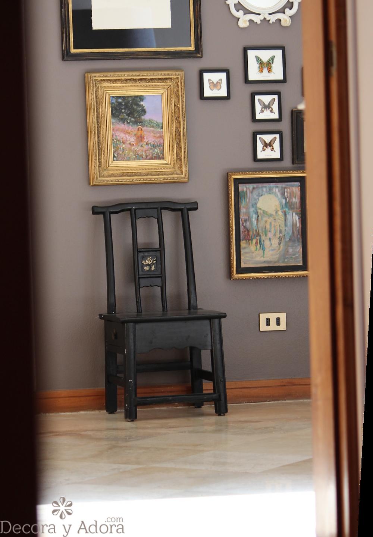 silla china negra