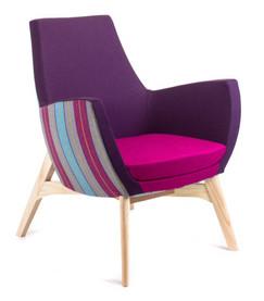 France Purple Multi Timber Legs