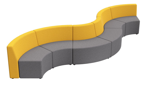 Balance Commercial - Storm Square Wave Mid Back 7 Seater