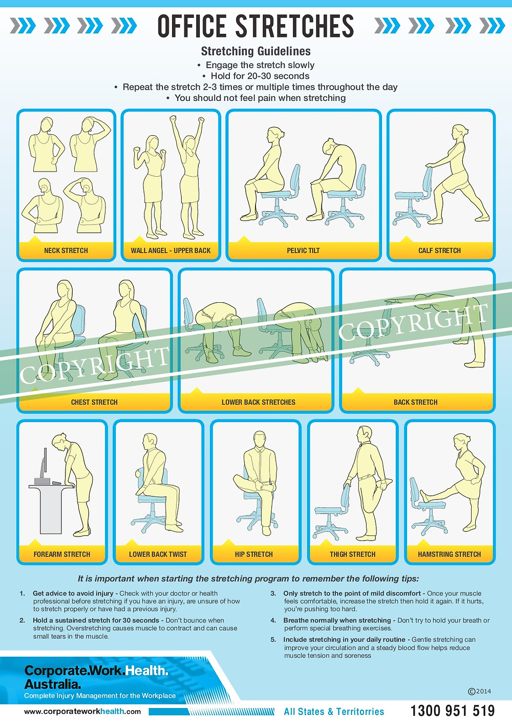Corporate Stretches via Corporate Work Health & Balance Commercial