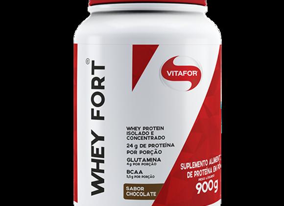 Whey Protein Fort Isolado e Concentrado Vitafor sabor Chocolate - 900g