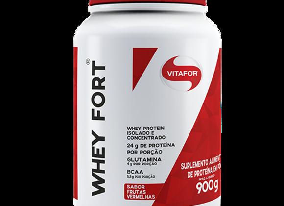 Whey Protein Fort Isolado e Concentrado Vitafor sabor Frutas Vermelhas - 900g
