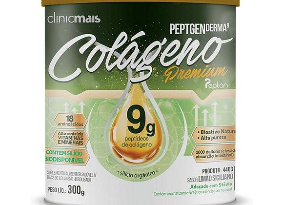Colágeno PeptgenDerma 9g Premium sabor Limão Siciliano - 300g Clinic Mais
