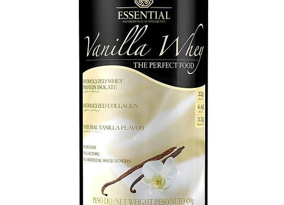 Vanilla Whey Protein Hidrolisado e Isolado Essential - 450g