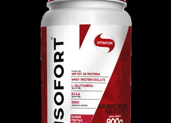 Whey Protein Isolado Isofort Vitafor sabor Frutas Vermelhas   - 900g