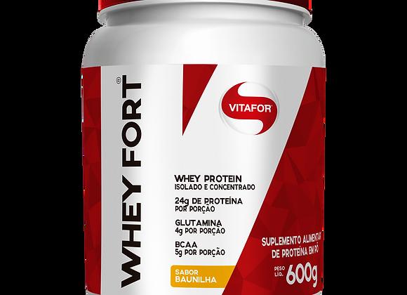 Whey Protein Isolado e Concentrado Vitafor sabor Baunilha - 600g