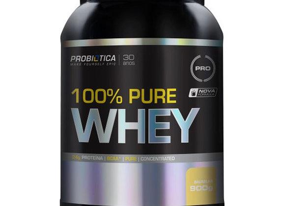 100% Pure Whey Proteico Probiotica sabor Baunilha - 900g