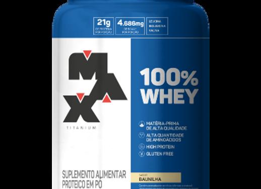 100% Whey Concentrado Baunilha - Max Titanium 900g