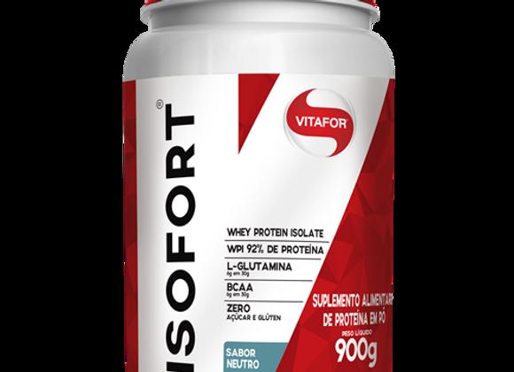 Whey Protein Isolado Isofort Vitafor sabor Neutro   - 900g