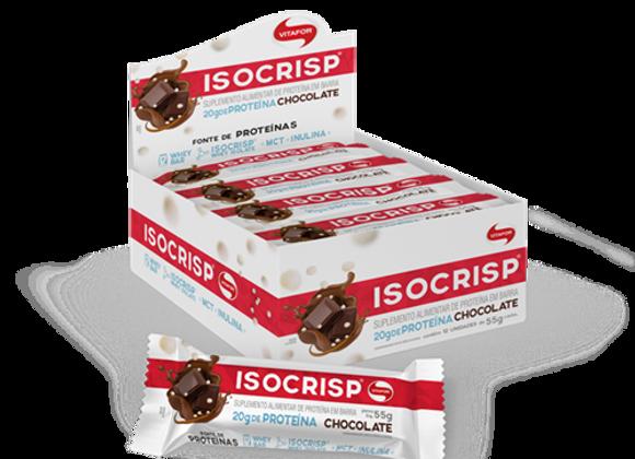 Isocrips Barra de Proteína sabor Chocolate - 55g Unidade