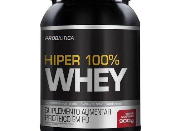 Hiper 100% Whey Probiotica sabor Morango - 900g