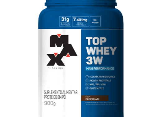 Top Whey 3W + Performance Chocolate - Max Titanium 900g